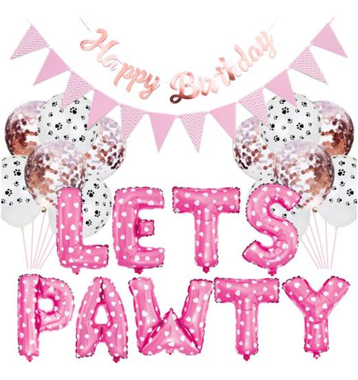 Pink Bday Balloons