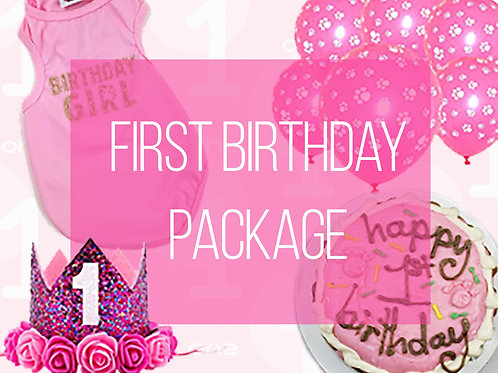 1st Birthday Girl Dog Party Package