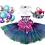 Thumbnail: Purple Mermaid Birthday Dog Package
