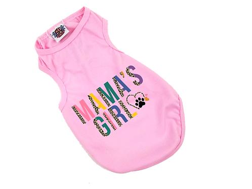 Mama's Girl Dog Shirt   Cheetah Pastel