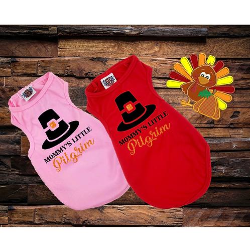 Mommy's Little Pilgrim Shirt | Thanksgiving Dog shirt