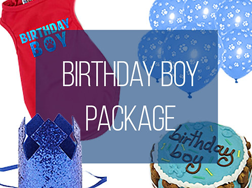 Birthday Boy Dog Party Package