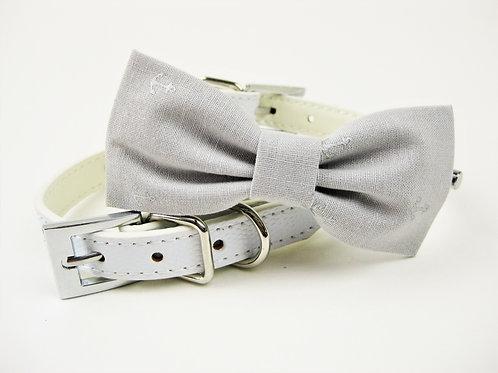 Anchor Nautcial Bow tie collar | Gray bowtie collar