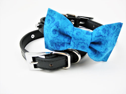 Malibu Blue Bow tie collar | Blue bowtie collar