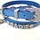 Thumbnail: Blue Denim croc Personalized collar | Size XL