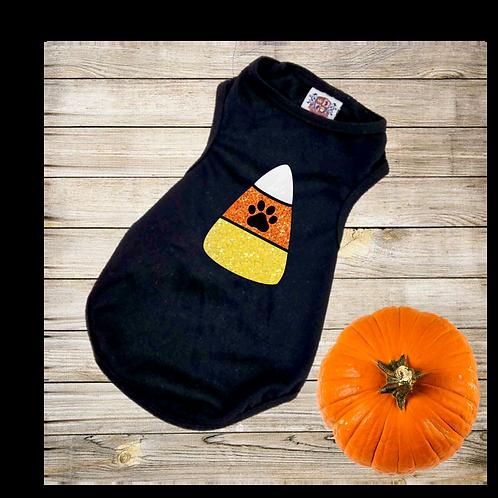 Candy Corn Halloween Dog Shirt
