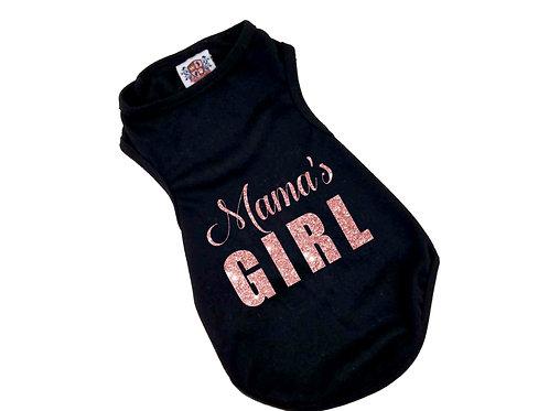 Mama's Girl Dog Shirt  Sparkle Pink