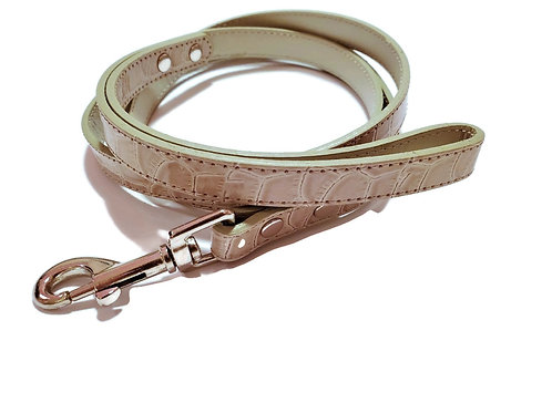 Gray Croc Chrome leash