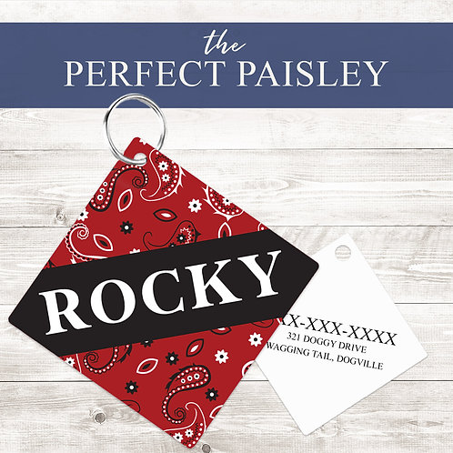 The Perfect Paisley Pet Tag | Custom Dog Tag Personalized