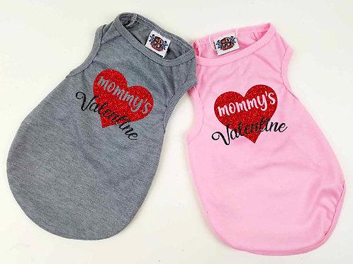 Mommys Valentine Doggy tee | Valentines Day Dog shirt