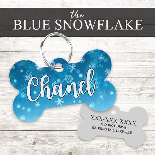 Snowflake Personalized Dog Tag