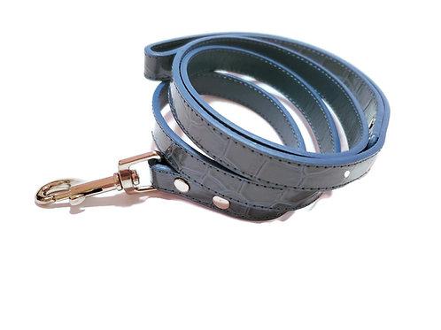Maritime Blue Chrome leash