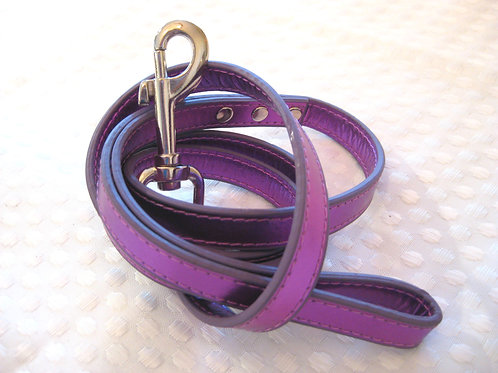Standard leash- Purple Metallic
