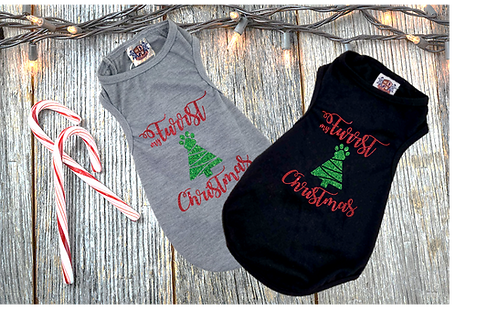 Furrst Christmas dog Shirt | Christmas shirt for puppy