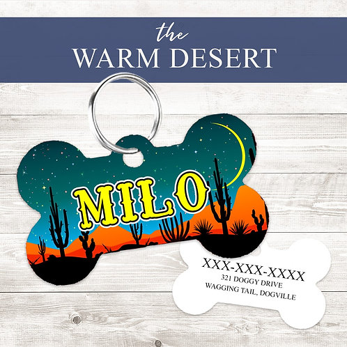 Warm Desert Pet Tag | Custom Dog Tag Personalized