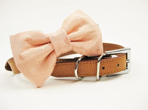 Blush Bow tie collar | Dog bowtie collar