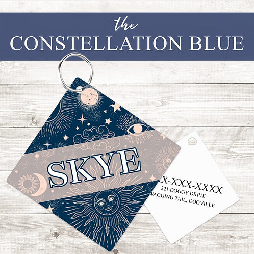 Constellation Pet Tag | Custom Dog Tag Personalized | Tribal Pin