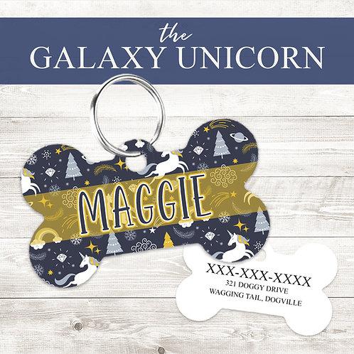 The Galaxy Unicorn Pet Tag   Custom Dog Tag Personalized