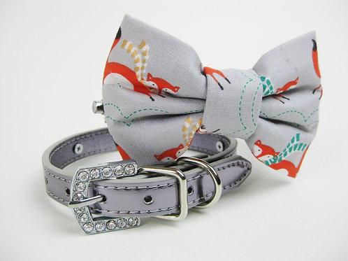 Silver Fox Bow tie collar | Holiday bowtie collar