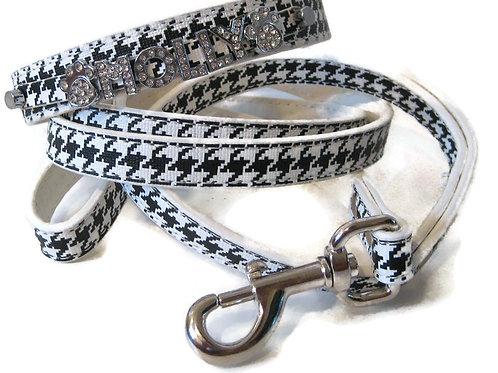 Houndstooth leash- standard width