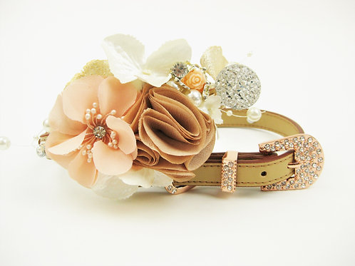 Gold and Blush Flower Collar | The Gatsby