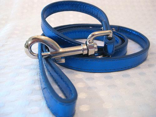 Standard leash- Blue Metallic