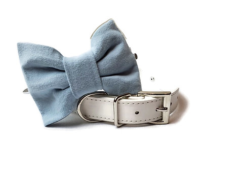 Dusty Blue Bow tie collar | Dog bowtie collar