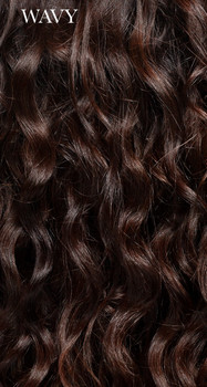 Wavy Human Hair - Styled with Diffuser