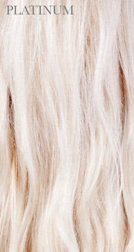 Processed Platinum Blonde Human Hair