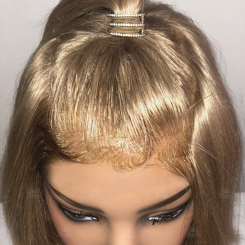 REAL COLLECTION: Authentic Virgin Blonde Readymade HD Cranial Prosthesis Regular