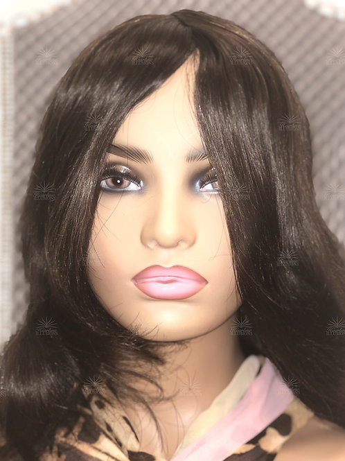 CORPORATE COLLECTION: Brunette Readymade HD Cranial Prosthesis Regular: (CPR)