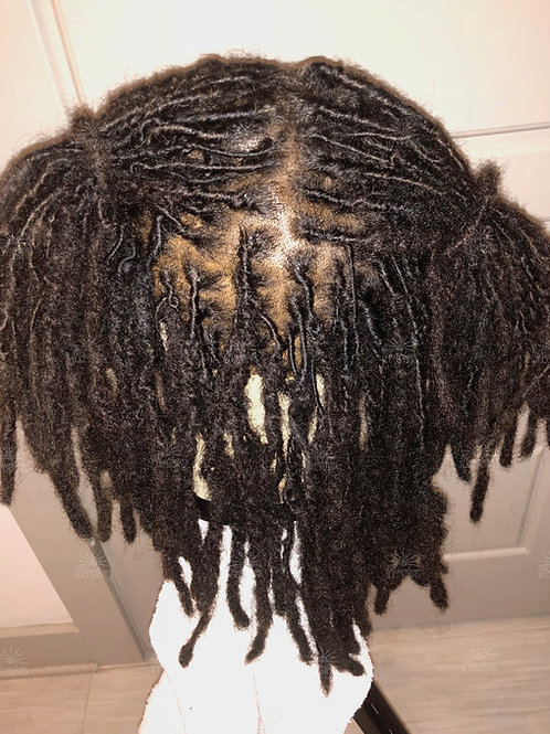 REAL COLLECTION: Dreadlocks HD Scalp Replacement Prosthesis Vacuum Fit