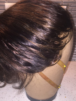 Natural Silk Lace Front wig with baby hairs