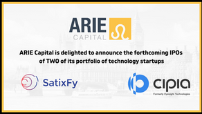 ARIE Capital Announces Two Upcoming IPOs From Its Current Portfolio Of Technology Startups