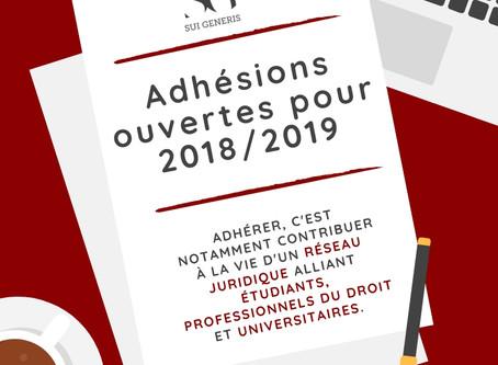 Rejoignez Sui Generis pour la session 2018-2019 !
