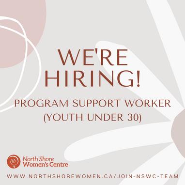 Job Opportunity: Program Support Worker