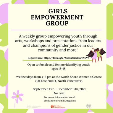 Girls Empowerment Group (weekly)