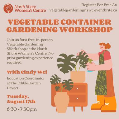 Free Workshop: Vegetable Container Gardening