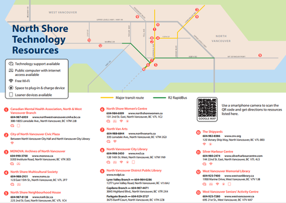 North Shore Tech Access Map