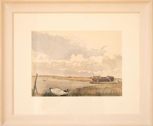 Lot 43: James Roberts - Black Barge, Suffolk
