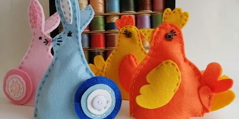 """Easter egg cosies """"get started"""" zoom"""