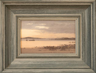 Lot 17: Christopher Perry - Evening Sky from Porth Mellon, St Mary's
