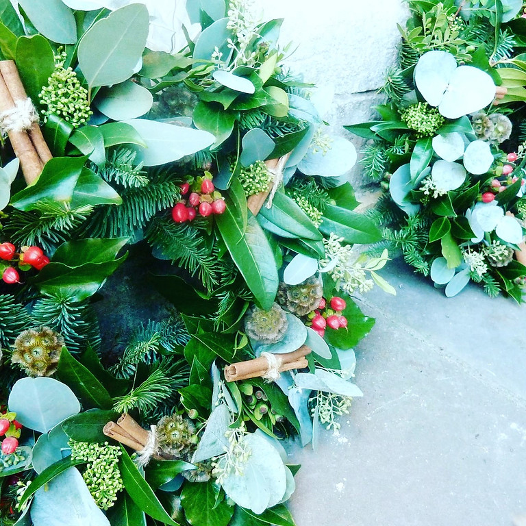 Christmas Wreath workshop 12 December