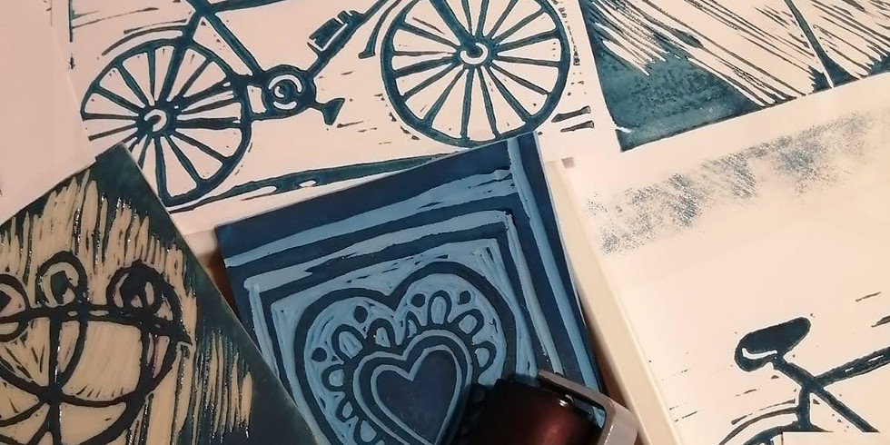 Why not... try lino printing?