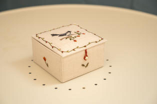 Lot 26: Debby Watson - Embroidered Box