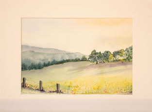 Lot 18: Ann Slann - Edge of a Field