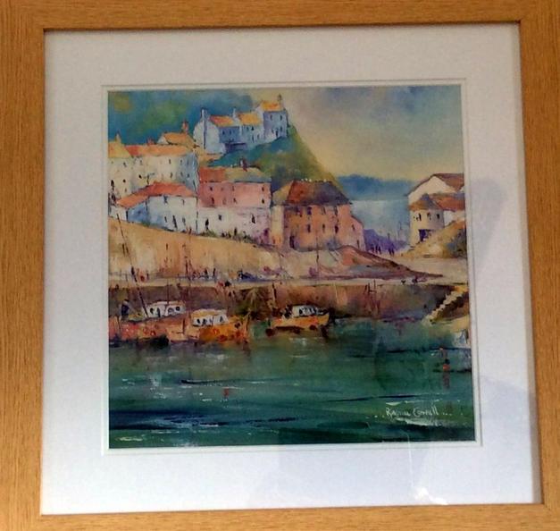 Lot 34: Rhona Cowell - Mevagissey Harbour