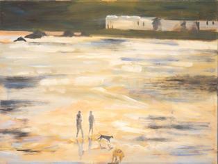 Lot 2: Linda Morgan - Walking on the Beach