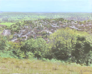 Lot 23: Rob Collins - View over Wotton from Coombe Hill