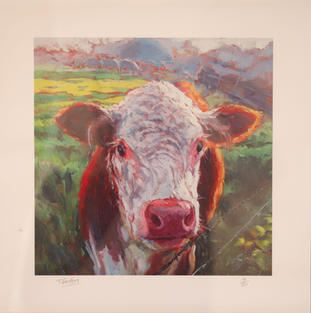 Lot 36: Ruth Britton - Brown Cow